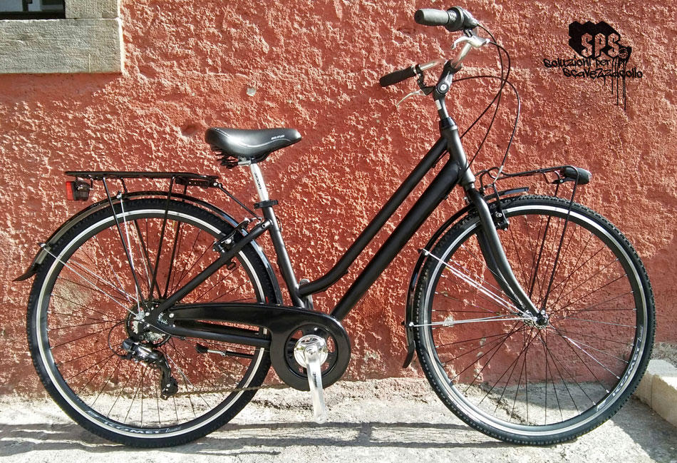 city bike nero opaco donna sps udine